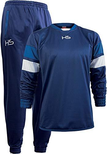 HS S13 Energy, Tuta Allenamento Unisex – Adulto, Blu Navy/Bianco/Blu Royal, L