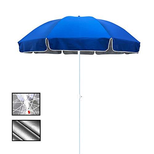 ZJM-umbrella Parasols Parapluie de Table Extérieur Parapluie Bleu, Parasol Étanche de 7,2 Pieds avec 8 Nervures en Acier pour Petit Bistrot, Tissu Oxford