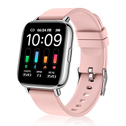 Smartwatch, 1.69 Reloj Inteligente Mujer Hombre, 24 Modos Pulsera Actividad e Fitness Tracker, Cronómetro, Calorías, Podómetro, Monitor de Sueño, IP68 Impermeable, Reloj de Fitness para Android iOS