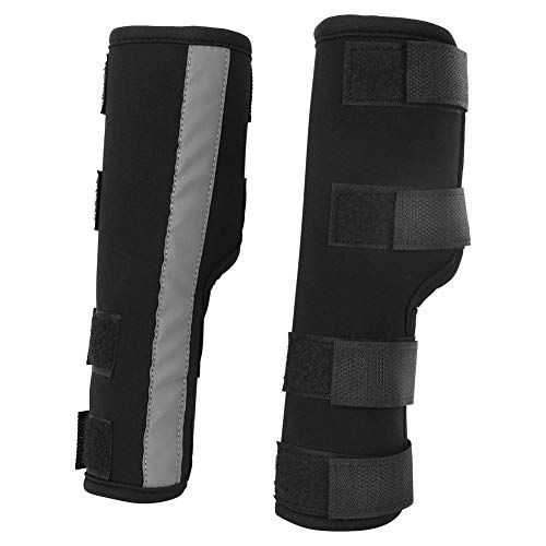 Pssopp Kniebandage für Hunde,1 Paar Hunde Sprunggelenk Schutz Bandage Bein Sprunggelenk Wrap mit reflektierenden Bändern Bei Bandverletzungen Verstauchungen und Stabilitätsverlust durch Arthritis(M)