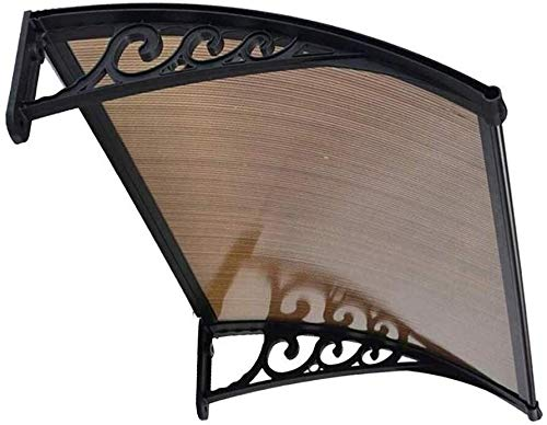 WSND FZWAI Toldo Cubierta Exterior de la Puerta Exterior techos del pabellón de la Cubierta de la Puerta Principal del pabellón UV de Agua de Lluvia Resist (Color : Brown, Size : 60cmx120cm)