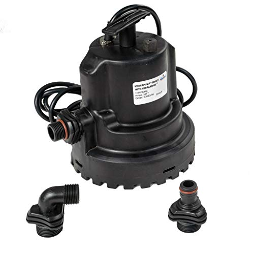 HydraPump Smart Standard - Water Pump with HydraSense technology for automatic operation. Submersible pump with Flow Rates to 2100GPH..