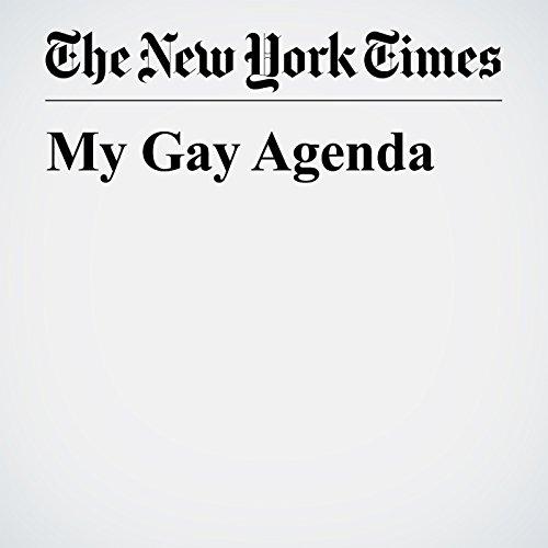 My Gay Agenda audiobook cover art