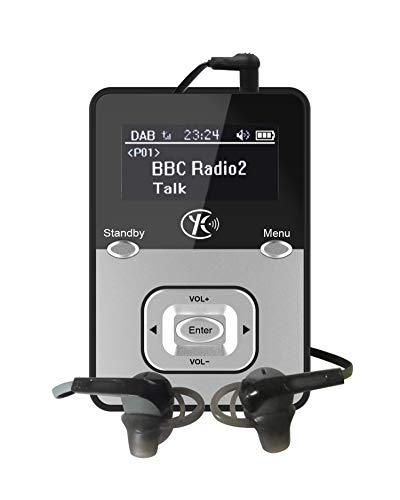 Yaakin K2, Digitalradio DAB/DAB + / FM digital, wiederaufladbarer Akku, tragbare Tasche, Handfunkgerät/Kopfhörer im Lieferumfang enthalten