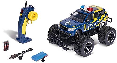Carson 500907321 1:14 SWAT 2.4GHz 100% RTR, Ferngesteuertes Auto, mit Lichtfunktion, inkl. Batterien und Fernsteuerung, Geschwindigkeit 15 km/h, Fahrzeit ca. 70 min