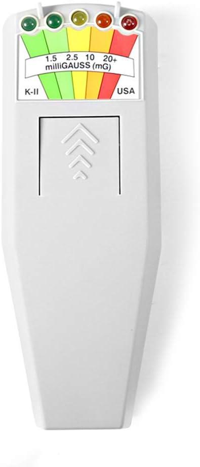 KKmoon EMF Meter,K2 EMF Meter Electromagnetic Field EMF Gauss Meter LED EMF Meter Magnetic Field Detector Radiation Detector Portable EMF Magnetic Field Monitor 5 LED Gauss Meter