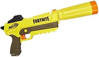 Nerf E6717EU4 SP-L blaster med avtagbar löpning och 6 Fortnite elit dart för ungdomar och vuxna, flerfärgad
