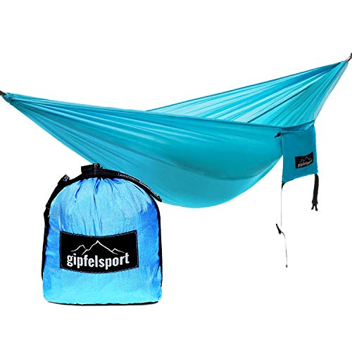 gipfelsport Hammock blue with straps