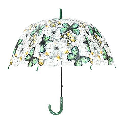Paraguas Transparente de Mariposa de Color, Paraguas de Jaula de pájaros Apolo...