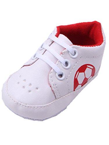 YICHUN Bébé Chaussures de Premier Pas Football Chaussures Souples de Sport Chaussures de Loisir (Longueur de Semelle:11CM, Rouge)