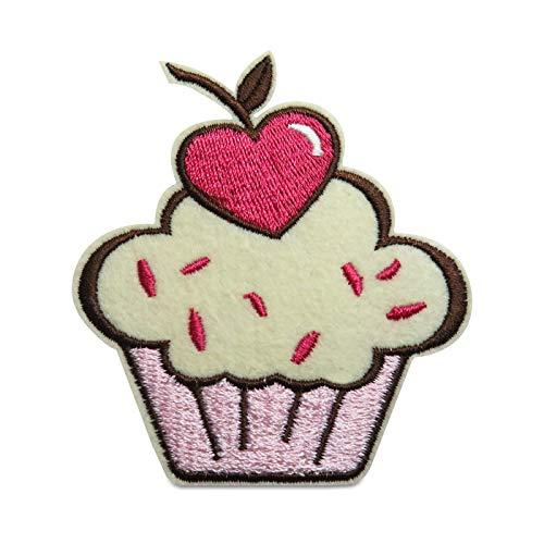 Finally Home Cupcake mit Herzkirsche Bügelbild Patch zum Aufbügeln | Patches, Aufbügelmotive