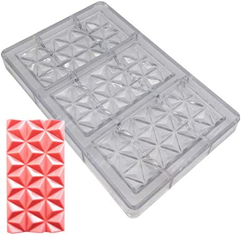 Diamond Candy Bars Maker Polycarbonate Bar Mold for Chocolate