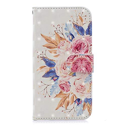 Miagon Flip Hülle für Galaxy S10e,3D Luxus Bookstyle Magnetverschluss Klapphülle Kartenfächer Schutzhülle Brieftasche Ledertasche Wallet Lederhülle Etui für Samsung Galaxy S10e