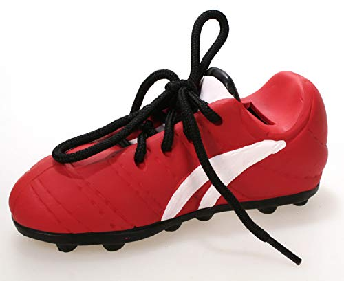 Fußballschuh ALS Spardose rot 17 cm Keramik Schuh mit echtem Schnürsenkel Turnschuh Sparbüchse Sparschwein