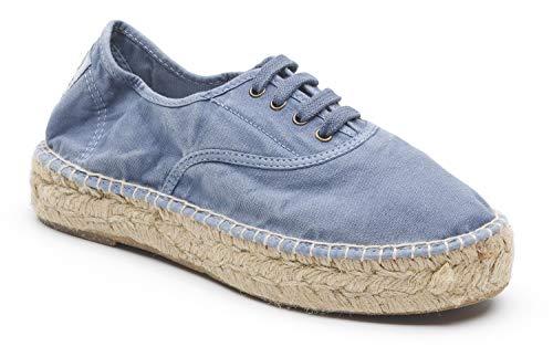 Natural World Eco – 687 Scarpe Sneakers Ecologico Vegan per Donna in Tela ULTIMO Modello Classic, Scarpe da Ginnastica Camden, Sneaker Basse Slavato