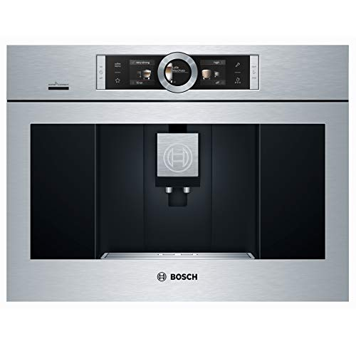 Bosch BCM8450UC 24 Inch Wide Built-In Automatic Coffee Machine with Home Connect, Stainless Steel