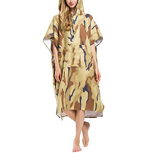 DKzyy Camouflage Changing Robe Badhanddoek Outdoor Waterabsorptie Sneldrogend Volwassene Hooded Strandhanddoek Poncho Badjas Handdoeken Vrouwen Man Badjas