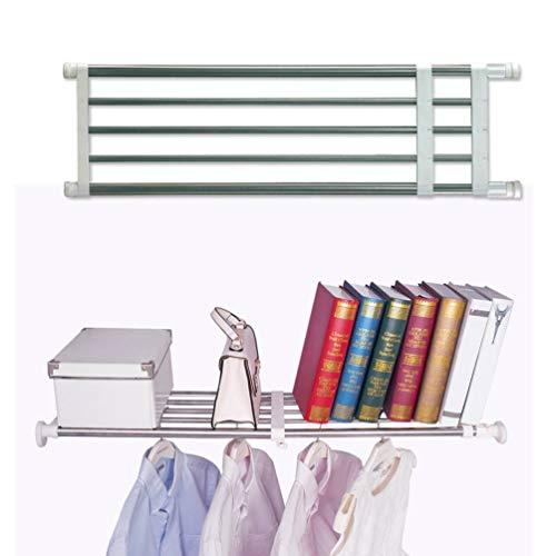 Josopa Closet Divider Shelf Adjustable Telescopic Storage Rack Cupboard Wardrobe Partition Shelf DIY Divider Separator for Cabinet Wardrobe Cupboard Kitchen Bathroom