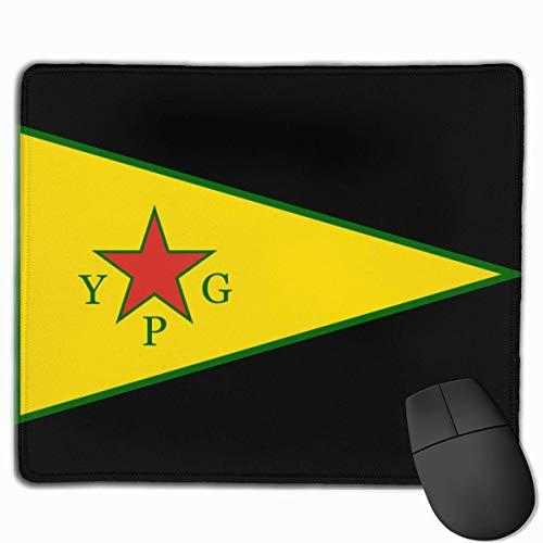 YPG kurdischen Obersten Ausschuss Flagge Computer Mauspad rutschfeste Gummi Gaming Mauspad Desktop Tastatur Mat