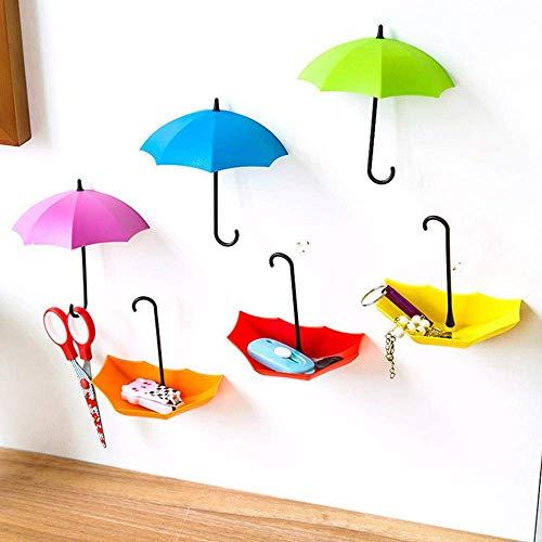 5pcs / set stand parapluie mignon maison support mural clé Porte-crochet Organisateur durable salle de bains de stockage Crochet XIUYU