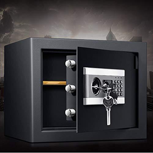 Brandvrije kluis Digitale Elektronische beveiliging Kluis, thuis kabinet Safe met sleutels en digitale Lock Veilig thuis (Color : Black, Size : 37x31x30cm)