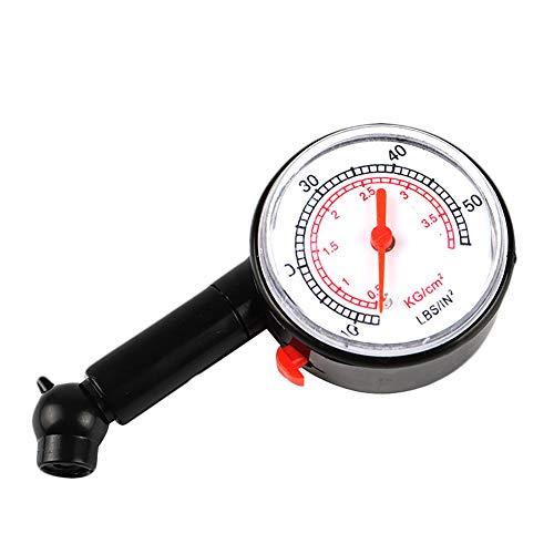 Baorio Comprobador de presión de neumáticos de Coche 0-50 PSI, medidor de presión de neumáticos para neumáticos y Motocicletas