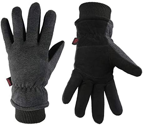 Winter Ski Gloves Cold Proof Insulated Work Glove for Driving Cycling Hiking Snow Skiing Deerskin product image