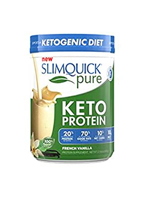 Slimquick Pure Protein Powder French Vanilla,Low Calorie Dietary Supplement, 600 Gram-Lose 3X The Weight (Packaging May Vary)