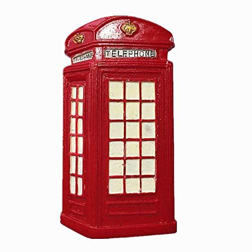 Imán 3D para nevera con diseño de cabina de teléfono de Londres, Inglaterra, Reino Unido, recuerdo de viaje, colección de regalo, decoración para el hogar o la cocina, imán para nevera de Londres