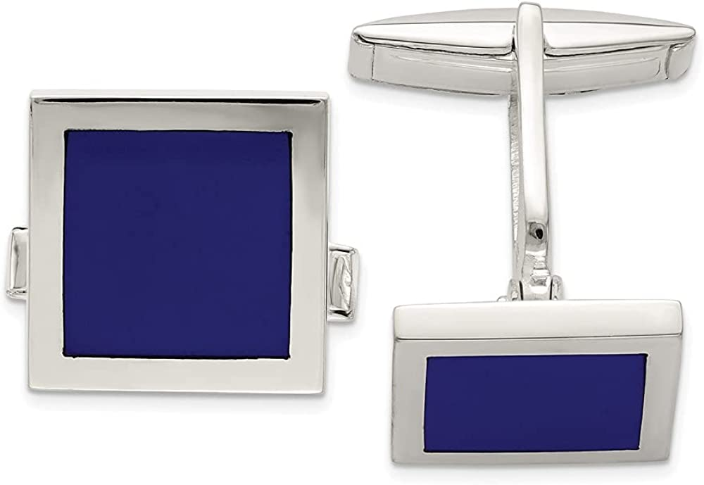 925 Sterling Silver Lapis Max 69% OFF Cuff Links Limited Special Price Fine Link Je Cufflinks Mens