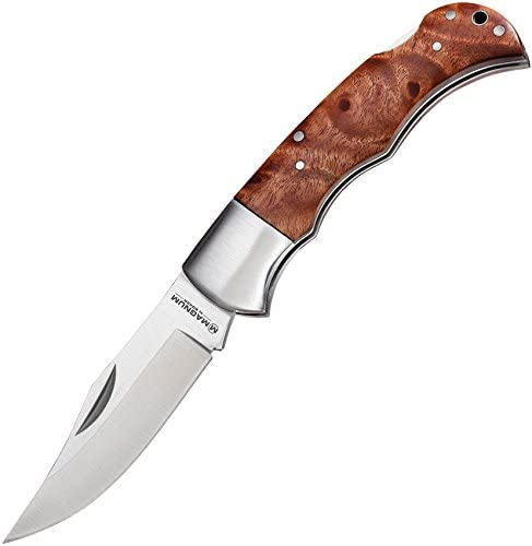 Boker Magnum 01MB076 Silver Pin I Quincewood Pocket Knife with 3 1 8 in 440 Stainless Steel product image