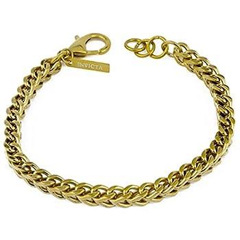 Invicta 28880 Men s Elements Yellow Gold Wheat Chain Bracelet