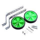 Ruedines para bicicleta infantil, ajuste universal para modelos de 12 a 20 pulgadas, verde