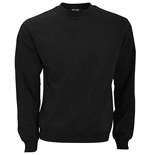 B&C Sweatshirt mit Rundhalsausschnitt L,Schwarz