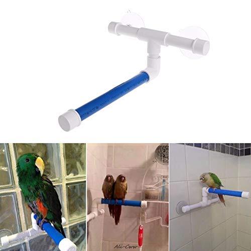 UNDKI Pájaro Plegable Pájaro Pájaro Pájaro Plataforma Rack Toy Stand Stand Bath Bath Perches Succión Taza de Pared Pájaros Juguetes Toys Accesorios (Color : As Show)