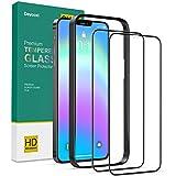 Deyooxi 2 Pezzi Vetro Temperato Compatibile con iPhone 12/iPhone 12 Pro,3D Curva Full Screen Pellicola Protettiva Screen Protector Film Compatibile con iPhone 12/iPhone 12 Pro 6.1',Protezione Schermo