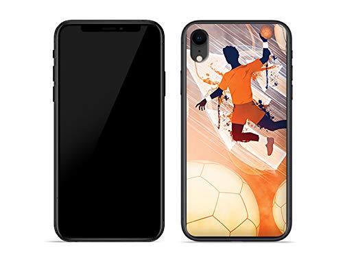 etuo Handyhülle für Apple iPhone XR - Hülle Fantastic Case - Handball - Handyhülle Schutzhülle Etui Case Cover Tasche für Handy