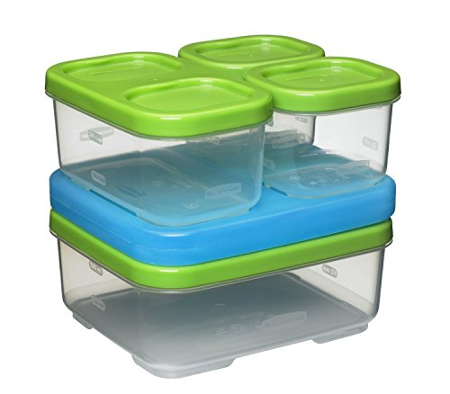 Rubbermaid LunchBlox Sandwich Kit, Green 1806231,Green, Blue