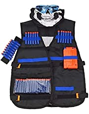 Kids Vest Kit, Jas Kit 8-dart Polsband 20 stks Foam Dart Bullet Naadloze Gezichtsmasker Goggle Reload Clip