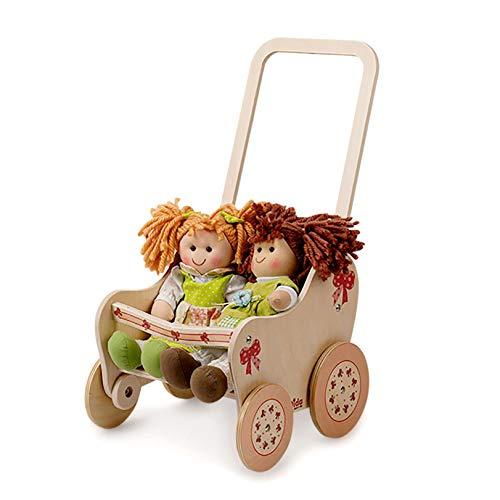 Dida - Der Puppenbuggy Aus Holz Dekoration Schleife Ist EIN Holzpuppenwagen Für Kleinkinder Nützlich Auch Als Lauflern Wagen