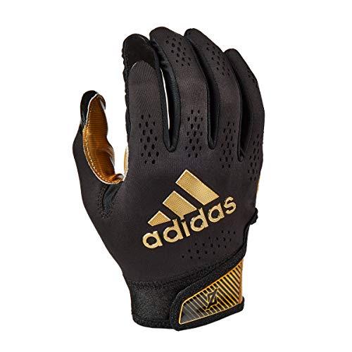 adidas Adizero 11 - Guante receptor de fútbol, color negro y dorado metálico, XL