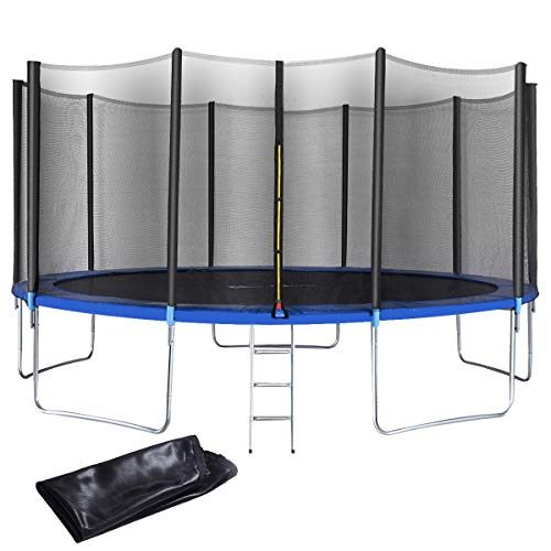 Giantex 12 FT 15 FT Trampoline Combo Bounce Jump Outdoor Trampoline...