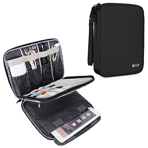 BUBM Electronic Organizer, Travel Cable Organizer Cord Bag for Earphone, USB Flash Drive, Memory Card and More, Compatible with Up to 9.7