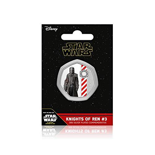 IMPACTO COLECCIONABLES Star Wars-Geschenkartikel Aufstieg von Skywalker - Ritter von Ren #3 - 50p geformte Silberne Gedenkmünze zu 50 Pence