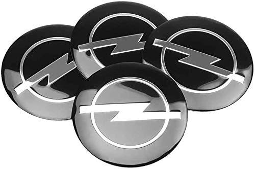 SYPNB 4 Piezas Tapas Centrales para Llantas para Opel Astra H Corsa Insignia Antara Meriva Zafira,Auto Tapas centrales with Logo Centro Hub Cap Tapas de Cubo de Rueda Pegatinas Accesorios de Coche