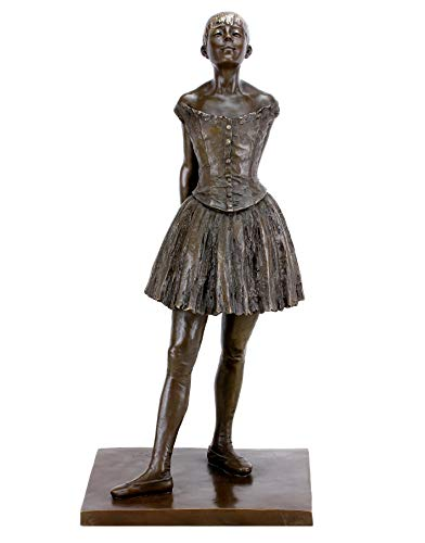 Kunst & Ambiente–Kleine vierzehnjährige Bailarinas–Escultura Bronce Edgar Degas–Altura: 66cm–Socket de Bronce–Estilo impresionista–balett Bailarinas
