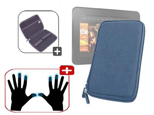 """DURAGADGET Housse étui résistant en EVA Rigide Bleu + Paire de Gants capacitifs Taille S (Petit) pour Nouvelle Tablette Kindle Fire 7"""" d'Amazon – Gara"""