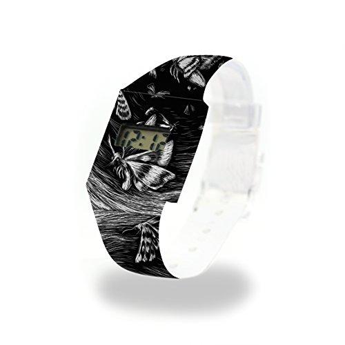 BUTTERFLY EFFECT - Pappwatch - Paperwatch - Digitale Armbanduhr im trendigen Design - aus absolut reissfestem und wasserabweisenden Tyvek® - Made in Germany , absolut reißfest und wasserabweisend