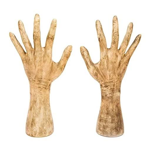 MYBOON Luminoso Realista Mirando Brazos Decoraciones Scary Zombie Hands Halloween Yard Art Tombstone Horror Ghost Manos Divertidas, Adornos Divertidos