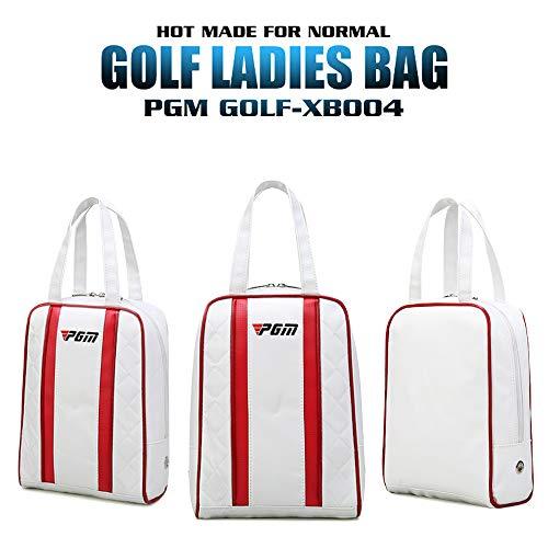 PGM wasserdichte Golfschuhe-Tasche aus PU-Leder für Damen, schwarz